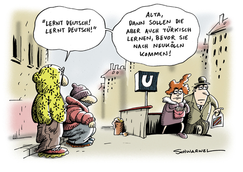 Lernt Deutsch by Schwarwel